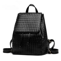backpack knitting pattern - 2016 Fashion Classic Backpack Black High Quality Handbags Knitting Pattern Schoolbag Travel Daily Design Bags for Women