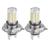 Wholesale 2Pcs Car H4 Led Headlight Bulbs White W SMD K LM LED Fog Light Bulb Driving Light Daytime Running Light DRL