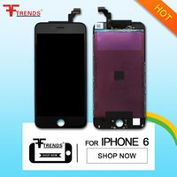 Wholesale high quality replacement Black For Apple iphone LCD Display Touch Screen With Digitizer frame Assembly free dhl