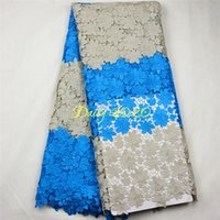 Wholesale factory sale price chemical water soluble guipure lace fabric african embroidered lace fabric Daisy