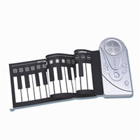 Wholesale Hand Roll Piano Keys Electronic Silicone Roll Up Travel Musical Instruments Battery or AC Adapter
