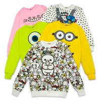 Wholesale 39 styles hoodies New Europe sweatshirt brand sweater printing pullover head fat lady sweater of large size clothing