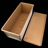 Wholesale BAKEST Professional g Striped Golden bread mold Toast box loaf pans