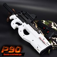 Wholesale P90 electric water gun boy even outdoor for CS against military gun toy gun can launch crystal bomb Not desert eagle