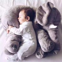 animal noses - New Arrival CM One Piece Gray Elephant Plush Doll With Long Nose Cute PP Cotton Stuffed child Baby Super Soft Hold pillow Toys