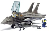air force toys - B7200 plastic building block sets Air Force F15 Fighter kids educational bricks blocks toys gift