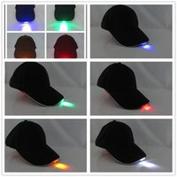 baseball trips - Bright LED Cap Glow In Dark For Reading Fishing Jogging camping trip ight Up LED Sport Hat Baseball Caps D822