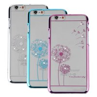 Wholesale Fashion Dandelion Slim Transparent Back Skin Case Cover For iPhone quot