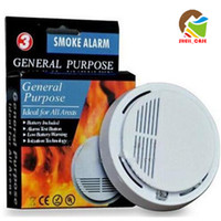 Wholesale SS smoke alarm Smoke fire Detector Photoelectric Wireless Battery operated Home Security smoke Fire Alarm Sensor High Sensitivity pc
