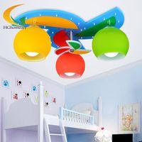 baby boy ceiling - Ceiling Lights with Heads for Baby Boy Girl Kids Bedroom Ceiling Lamps Children Room Art Decor LED Home Lighting