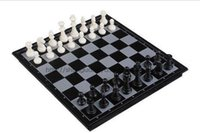 Wholesale International Chess Checkers Folding Magnetic Board Indoor Game P029