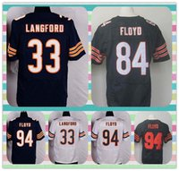 bears white jersey - New New Player Elite Men s Football Jerseys Bears Jeremy Langford Draft Floyd Leonard Floyd White Blue Stitched Jersey