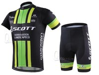 Wholesale 2016 High quality HOT NEW Scott Team Sleeve Cycling Jerseys Set Cycling Wear Clothing Shorts Cycling Jersey Sets