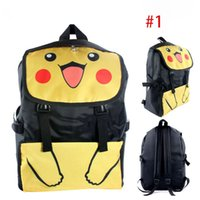 Wholesale New Poke School Bag Cartoon Pikachu backpack Thicken Waterproof Nylon School Travel Kids School Bags XL B02