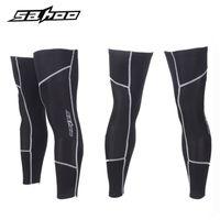 Wholesale SAHOO Thermal Fleece Warm Legwarmers Knee Thigh Running Leg Warmers Men Women Winter Outdoor Sport Bicycle Cycling Legging