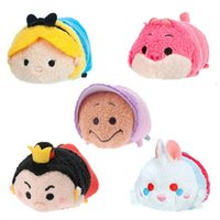 alice collections - Tsum Tsum Mini Plush Alice in Wonderland Collection Cute Alice Cheshire Cat Oyster Rabbit Soft Smartphone Cleaner Toys Dolls