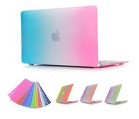 Wholesale Rainbow Full Protective Case for inch Macbook Air Pro Retina case with MacBook Colorful Shell Cover Keyboard Protector