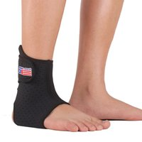 Wholesale Adjustable Sports Elastic Ankle Support Brace Wrap Pad Foot Protection Football Basketball SX662