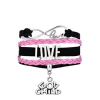 bangles for children - New Arrival god child infinity love dangle multilayer hand knitted leather punk rock Woven bracelet for best friends