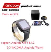 Android 3G montre Smart Watch Phone Bluetooth Smartwatch 4G 512MB Carte SIM GSM W08 Sport Montres avec 5.0MP caméra Wifi GPS CSAJ pour iOS