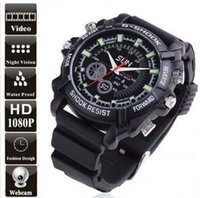 Wholesale Cheap W1000 Mini p HD Waterproof Spy wrist Watch Camera DVR Hidden Video Recorder IR Night Vision