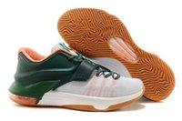 Nouveau style Kevin Durant KD 7 Chaussures de basket-ball Sport Athletic Running BHM Meilleur prix Qualité Avec Standout Mid sole Taille 40-46 Préjoué