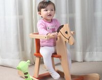 baby rocking horse toys - Trojan rocking horse wooden toy baby child childhood memories Trolltech safety toddler educational toys wood High quality Bestcare
