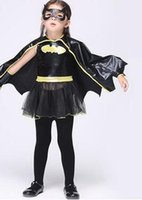 apparel shows - Child Cosplay Cartoon Apparel Girls Dancing Shows Colth Batman Play Stage Performance