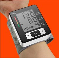 Wholesale Digital LCD Wrist Blood Pressure Monitor arterial pressure automatic blood Pressure tonometer on the wrist heart rate oximetro