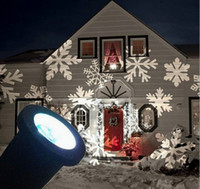 Wholesale five star Outdoor Indoor LED Snow Projection Lamp white Snowflakes Landscape Projector Christmas Party Light Wall Decoration