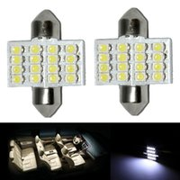 auto map lights - 1x White quot mm SMD DE3175 LED Lights For Interior Dome Map auto part DIY
