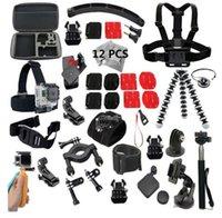 arm cam - Gopro accessories Set monopod case Octopus tripod bike mount helmet arm Action Cam Accessories for Go pro hero4 sjcam sj4000 kit