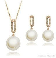 beautiful commodities - Fashion jewelry for woman jewelry factory Small commodities production Set crystal beautiful pearl necklace earrings jewelry sets