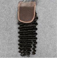 Wholesale Human Remy Hair No Shedding No Tangle Lace Closure Straight Body Deep Loose Wave Hair