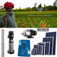 solar water pump system - 2HP submersible deep well solar water pump system by YAOCHUANG ENERGY