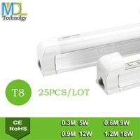 Wholesale LED T8 Tube Light Fluorescent Light W M W M W M LED Tube Light AC110 V Energy Saving Tube Lamp
