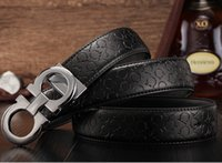 Wholesale New eight male buckle belt leather smooth buckle belt business and leisure belt man han edition of young students