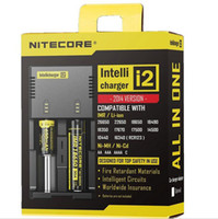 Wholesale Genuine Nitecore I2 Universal Charger for Battery E Cig in Muliti Function Intellicharger Rechargeable free ship