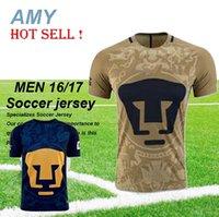 Wholesale 2016 Mexico Pumas UNAM Short Sleeve Jersey Universidad Adult Camisa Shirt Camiseta Maillot Ligas MX Nacional A C