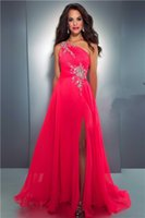 affordable dress shirts - 2016 Prom Dresses Affordable Sexy Beads Hollow Backless Front Side Slit Chiffon Prom Evening Dresses Gown Floor Length Formal Dresses