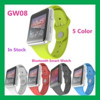 Wholesale 2015 New Smartwatch GW08 Bluetooth Smart watch For iPhone Samsung Android Phone relogio inteligente reloj smartphone watch