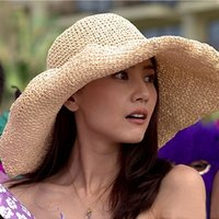 beach vacation resorts - Summer Korean Style Visor Cap Mesh Fold Moive Star Straw Hat Wide Brim Hats On Vacation