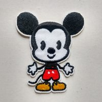 Wholesale Mickey Mouse Cute Iron On Embroidered Cartoon Patch Shirt Kids Gift Shirt Bags Decorate Individuality Badge