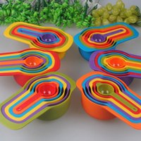 Wholesale 4 Sets Brand New Professional Plastic Measuring Spoons Versatile Measuring Set Great Gift to a Home Baker FG091127