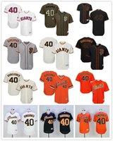 Wholesale 16 Styles Madison Bumgarner San Francisco Giants Majestic SF MLB Baseball Jerseys Black Cream Gray Orange White