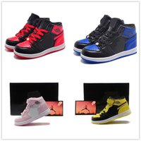Wholesale Hot Kids Retro Banned Basketball Shoes Sports Shoes Toddlers Black Blue shoes Athletic Children Sneaker for Boy Girl Birthday Gift