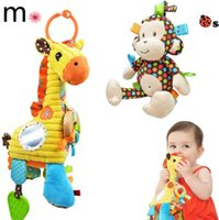 bell monkey - Sozzy Baby Bed Hanging Bell Toys Infant Bells Educational Toys Plush Doll Animal Monkey Giraffe Bells Dolls Children Kids Toys Gifts LJJP181