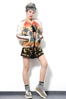 Wholesale new idol bigbang Idol summer new sequined palm print loose long sleeved women casual jacket for girls