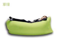 bedding group - 4 season outdoor kids or adult age group banana sleeping bag Lazy Hangout Inflatable Air Bag Camping Holiday Beach Sleeping Bed