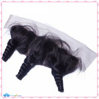 best lace frontals - 9A Best Quality Lace Frontal Closure Brazilian Virgin Hair Loose Wave Curly Full Lace Frontals x4 Bleach Knots Lace Frontal With Baby Hair